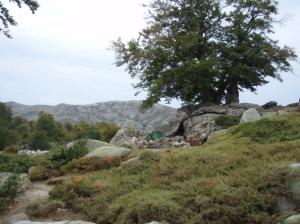I Pedinieddi (enige officiële kampeerplaats, niet gelegen bij een hut)