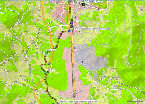Dag 16 Detail nieuw traject Tui - O Porrino