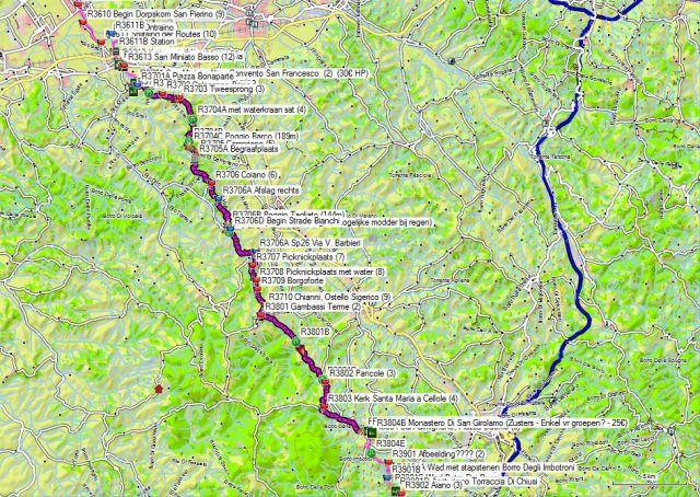Dag 37-38 San Miniato Alto – Chianni - San Gimignano