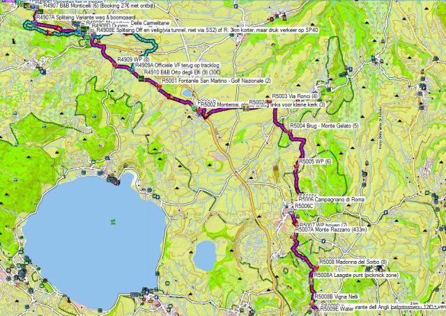 Dag 49-50 Capranica - Sutri-Vallicella – Formello