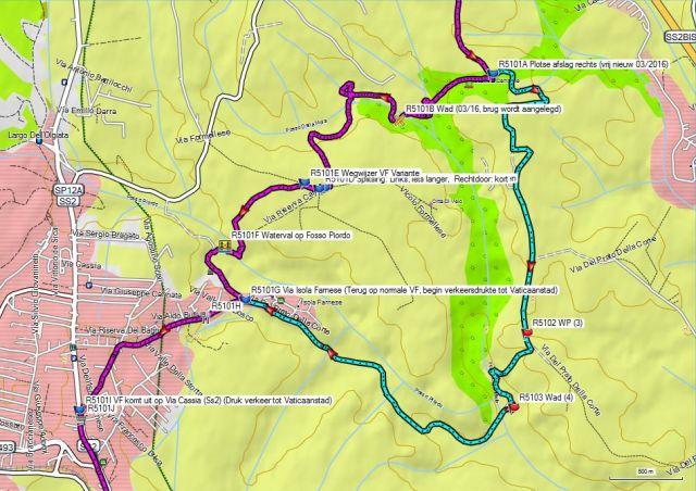 Dag 51-52V2 Oud traject tussen Ss2Bis en La Storta